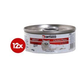 Ontario konzerva Cat Chicken Pieces+Scallop 12x95g