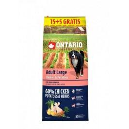 Ontario Adult Large Chicken & Potatoes 15 + 5 kg Zdarma