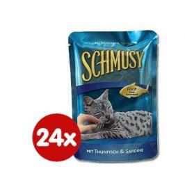 Schmusy Kapsičky Fish tuňák+sardinky 24 x 100g