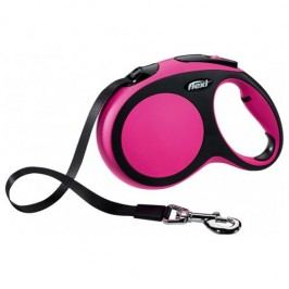 Flexi vodítko New Comfort L pásek 8m/50kg růžové