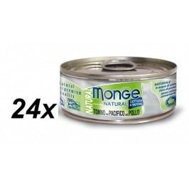 Monge NATURAL tuňák s kuřecímmasem pro kočky 24 x 80 g