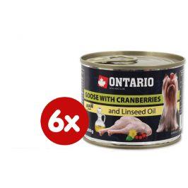 Ontario Konzerva mini goose, cranberries, dandelion and linseed oil 6 x 200g