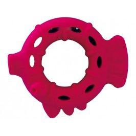 Dog Fantasy Hračka silikonový kroužek červený