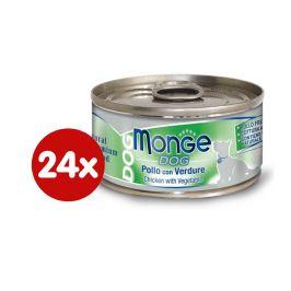 Monge Dog Natural kuřecí a zelenina 24 x 95g