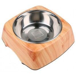 Dog Fantasy Miska nerezová čtverec dřevo 160 ml