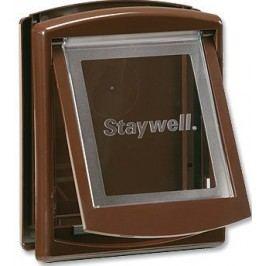 Staywell dvířka s transparentním flapem malá hnědá