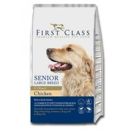 First Class Dog Senior Large Breed Chicken 12kg