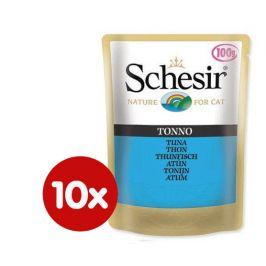 Schesir Kapsička Cat tuňák 10 x 100g
