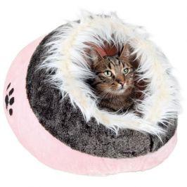 Trixie pelíšek koule Minou s kožešinou růžová